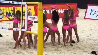 Moscow Grand Slam 2013. Beach Volley. Пляжный Волейбол - Сheerleaders, Девушки