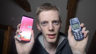 Samsung Galaxy S8 vs. Nokia 3310 - Which Is Faster?!