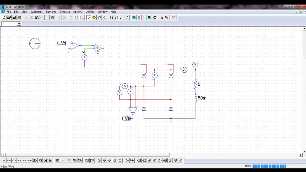 Psim 9 Alpha Controller Retificadores Controlados Youtube Triac Voltage Public Circuit Online Simulator