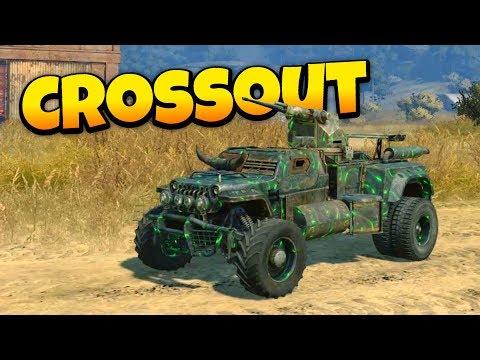 Crossout - The Green Machine! - Epic Multiplayer Vehicular Destruction!  Crossout Open Beta Gameplay