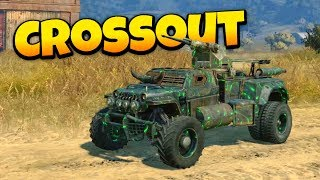 Crossout - The Green Machine! - Epic Multiplayer Vehicular Destruction!  Crossout Open Beta Gameplay