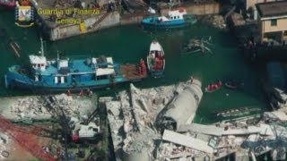 Aerial video: Destruction left by deadly cargo ship crash in Genoa