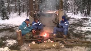 ESA astronaut Tim Peake winter survival training