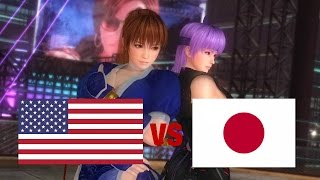 DOA5LR English Vs Japanese Voice Comparison - TAG EDITION! - (Part 1 - Ninjas and Nyotengu)