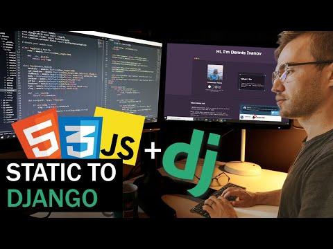 Django Portfolio Website Full Build Time-lapse