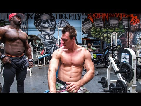 BIGGER - FASTER - SMARTER (Day 1) Psycho Dru, Big Rob - Iron Addicts Gym , 24 Hour Fitness, Food
