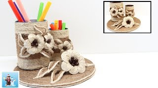 Awesome DIY Pencil Holder from Jute Twine Art and Craft Ideas