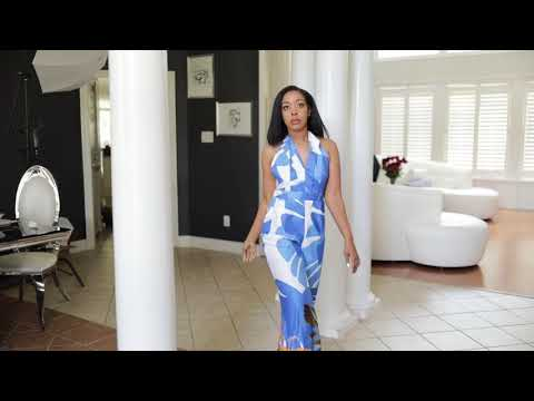 Runway Couture Blue Jumpsuit