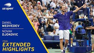 Daniil Medvedev vs Novak Djokovic Extended Highlights