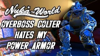 Fallout 4 Nuka World - Overboss Colter Comments on my Power Armor - Unique Dialogue