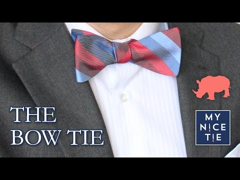 How To Tie A BOW TIE (slow=beginner) | How To Tie A Tie With A Freestyle Bow (easy)