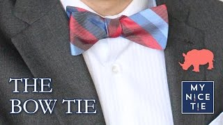 Bowtie video how to tie a bow tie slowbeginner how to tie a tie with a freestyle bow easy ccuart Images