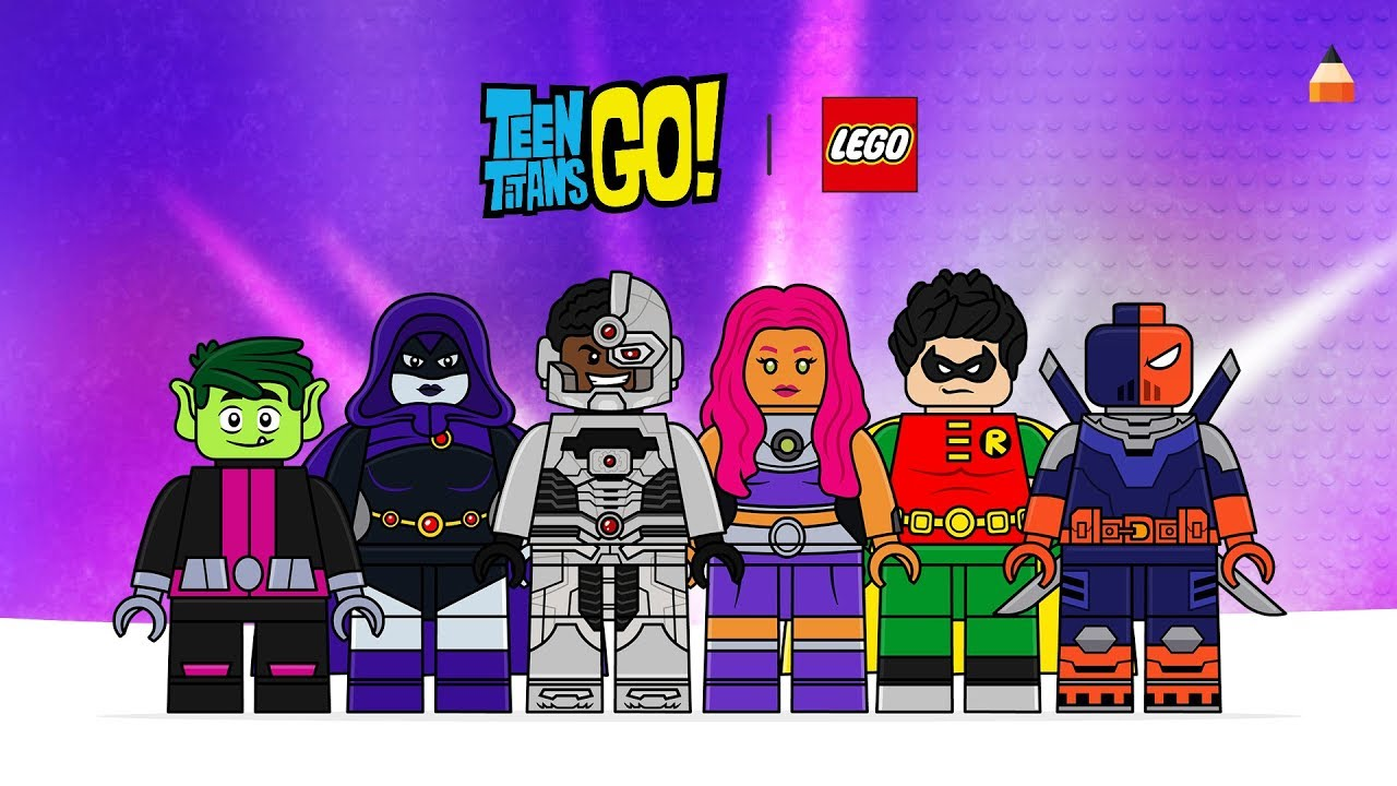 Teen Titans Go Drawing Drawing Lego Minifigures