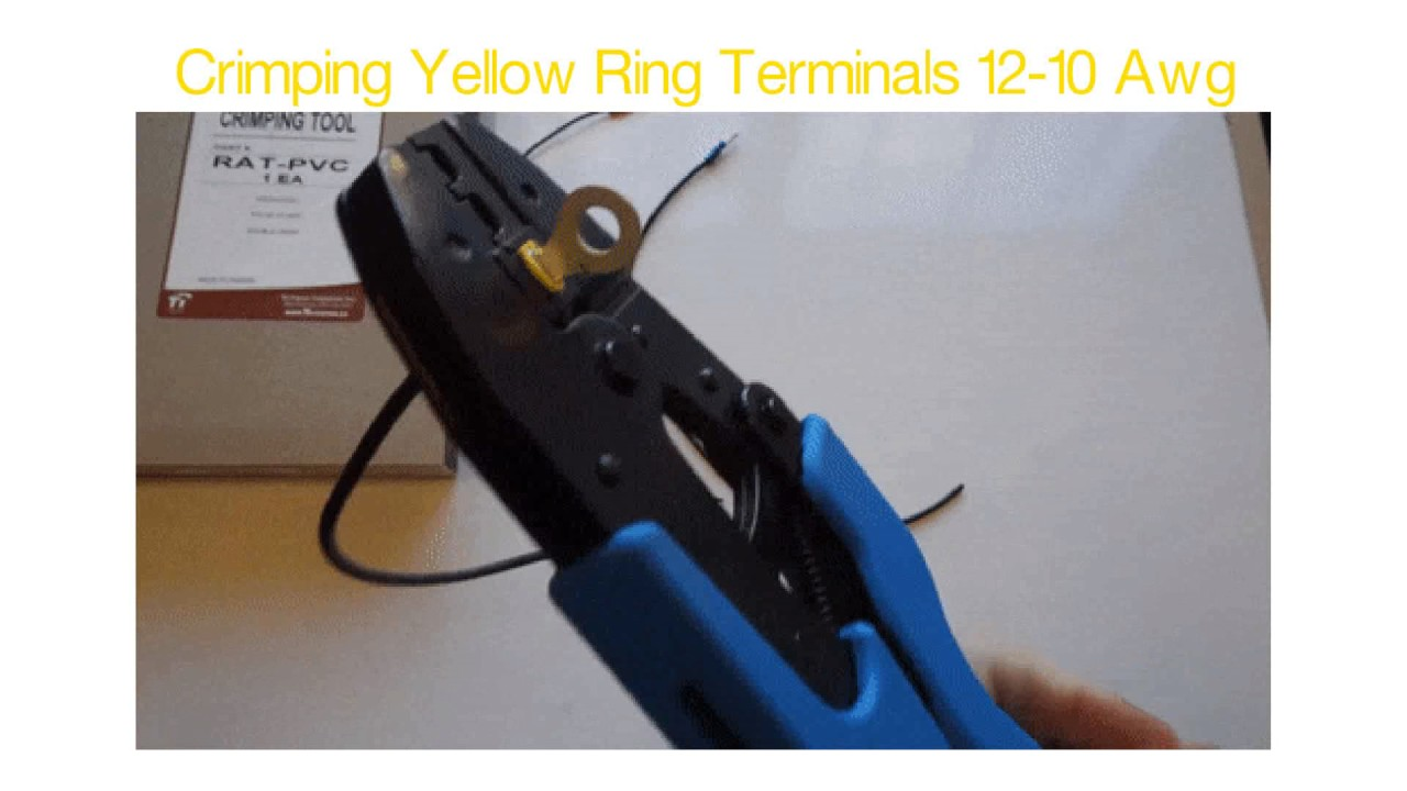 Automotive Marine Ring Terminals by Wirefy 90 PCS Ring Connectors 5//16 Yellow 12-10 AWG Solderless Wire Connectors Electrical Connectors Heat Shrink Connectors