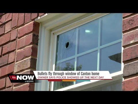 Bullet flies through window of Canton home