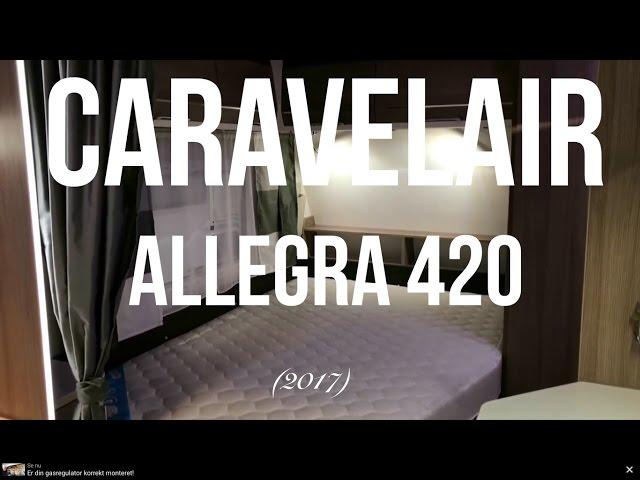Caravelair Allegra 420 (2017). Mads Nielsen, Campingferie.dk og Peter Outzen fra Campingagenten.dk