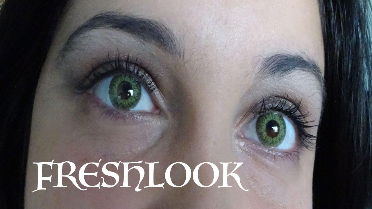 dea4ff3d41ba9 Review Freshlook colorblend EMERALD GREEN   lentillas - YouTube