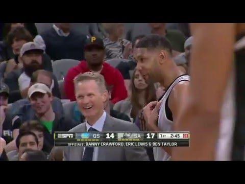 Golden State Warriors vs San Antonio Spurs | March 19, 2016 | NBA 2015-16 Season