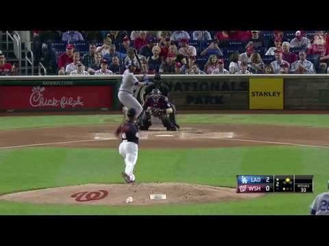 Andre Ethier Drives an RBI Double Vs Nationals