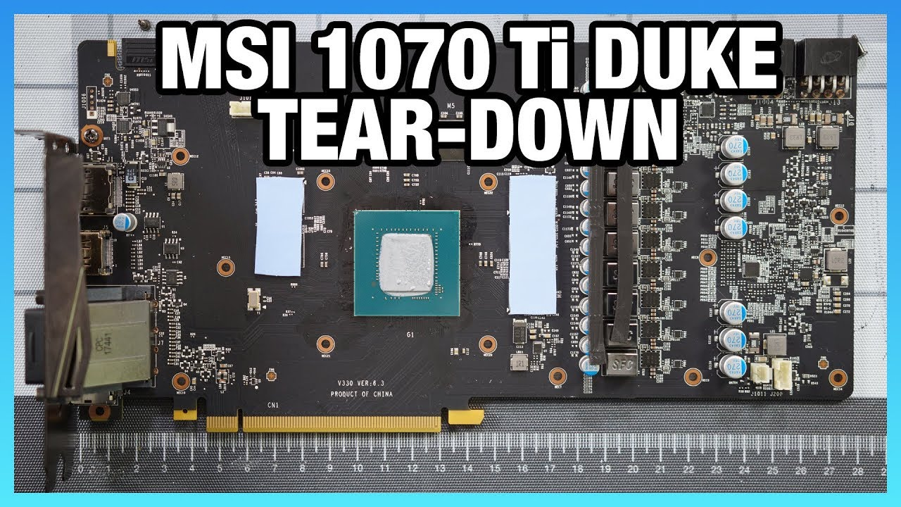 MSI GTX 1070 Ti Duke Tear-Down & Shunt Mod Guide