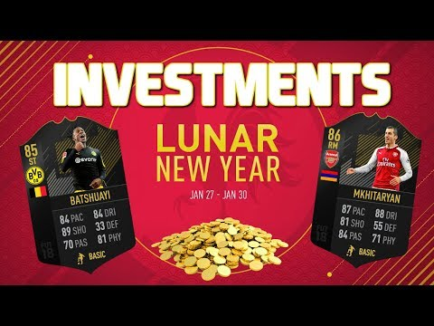 FIFA 18 LUNAR NEW YEAR INVESTMENTS! MAKE 100K A DAY EASILY! FIFA 18 ULTIMATE TEAM TRADING METHODS!
