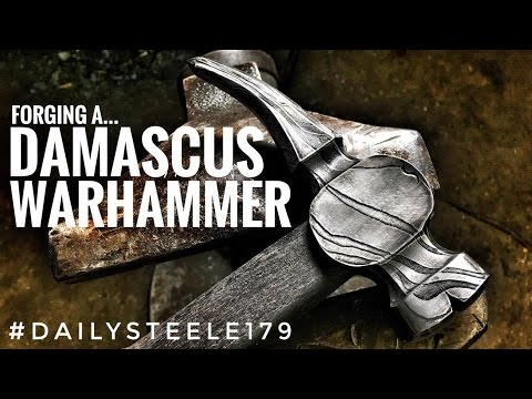 FORGING A DAMASCUS WAR HAMMER!!!