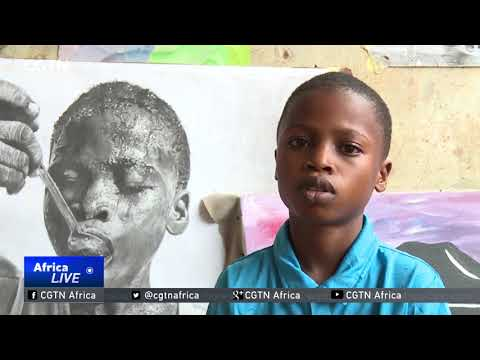 11-year-old artist becomes a sensation in Lagos