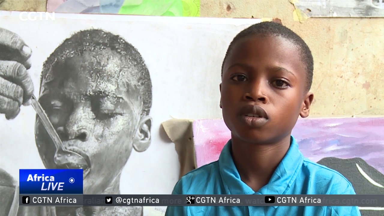 Eleven year-old artist becomes a sensation in Lagos, Nigeria.