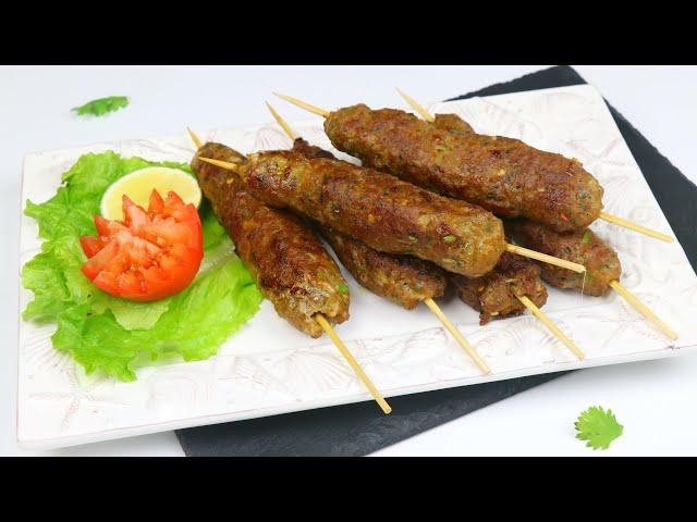 চুলায় তৈরি বিফ শিক কাবাব (ইন্ডিয়ান/পাকিস্তানী স্টাইলে) | Restaurant Style Beef Seekh Kabab | Kabab