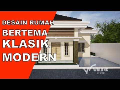 DESAIN : Rumah bertema Modern Klasik type 70