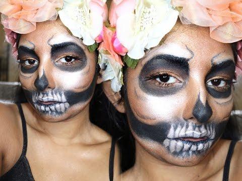 EASY Highlighter Skull Makeup | SaminSays