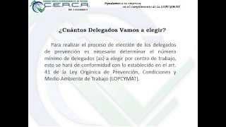 Repeat youtube video Como Elegir y Registrar Delegados (as) de Prevención