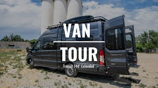 "VAN TOUR | Sprinter 2500 170"" Custom Camper Van Build 
