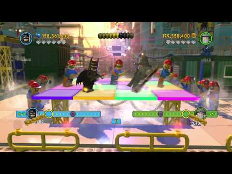 The LEGO Movie Game - The Awesome Dance with Gandalf and Batman