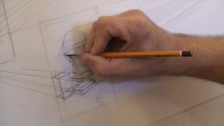 Применение правил перспективы при построении головы (Уроки скульптуры и рисунка)
