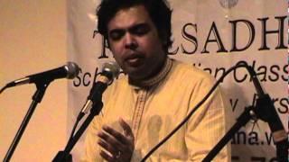 Taalsadhana presents Samartha Nagarkar - Raag Kamod in Vilambit Jhumraa