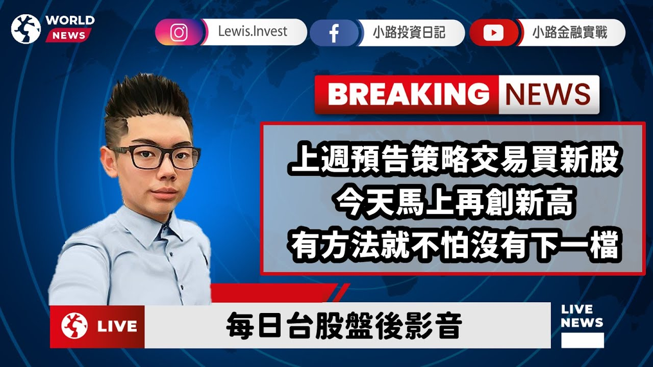 #小路投資日記 策略交易新股今天創新高