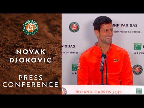 Novak Djokovic - Press Conference after Quarterfinals | Roland-Garros 2019