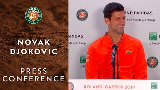 Novak Djokovic - Press Conference after Quarterfinals | Roland-Garros 2019