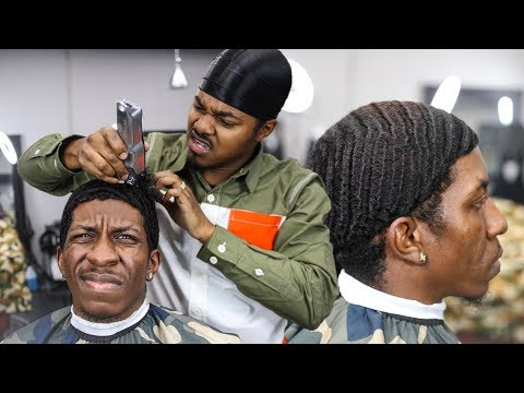 MUST SEE!!! AGAINST THE GRAIN HAIRCUT | END OF 28 WEEKS WOLF | 360 WAVES TRANSFORMATION