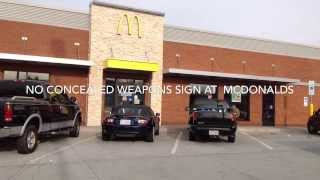 No Concealed Carry Weapons Allowed Sign at McDonalds