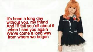 J fla  See You Again  One Call Away lyrics PlanetLagu com