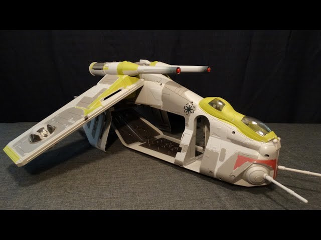 Star Wars Vehicle Review Republic Gunship Revenge Of The Sith Youtube