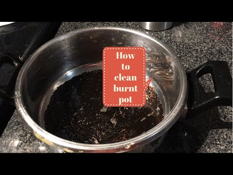 How To Clean A Burnt Pot with baking soda easy way