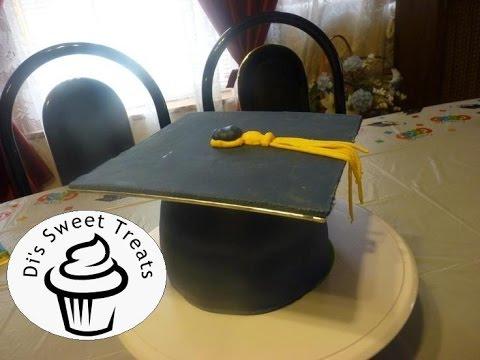 Graduation Cap Cake- Di's Sweet Treats - YouTube