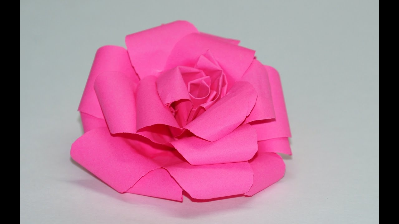 how to make paper rose    easy tutorial   diy beauty and