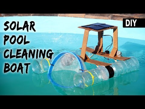 How to make a SOLAR POOL CLEANING BOAT | DIY