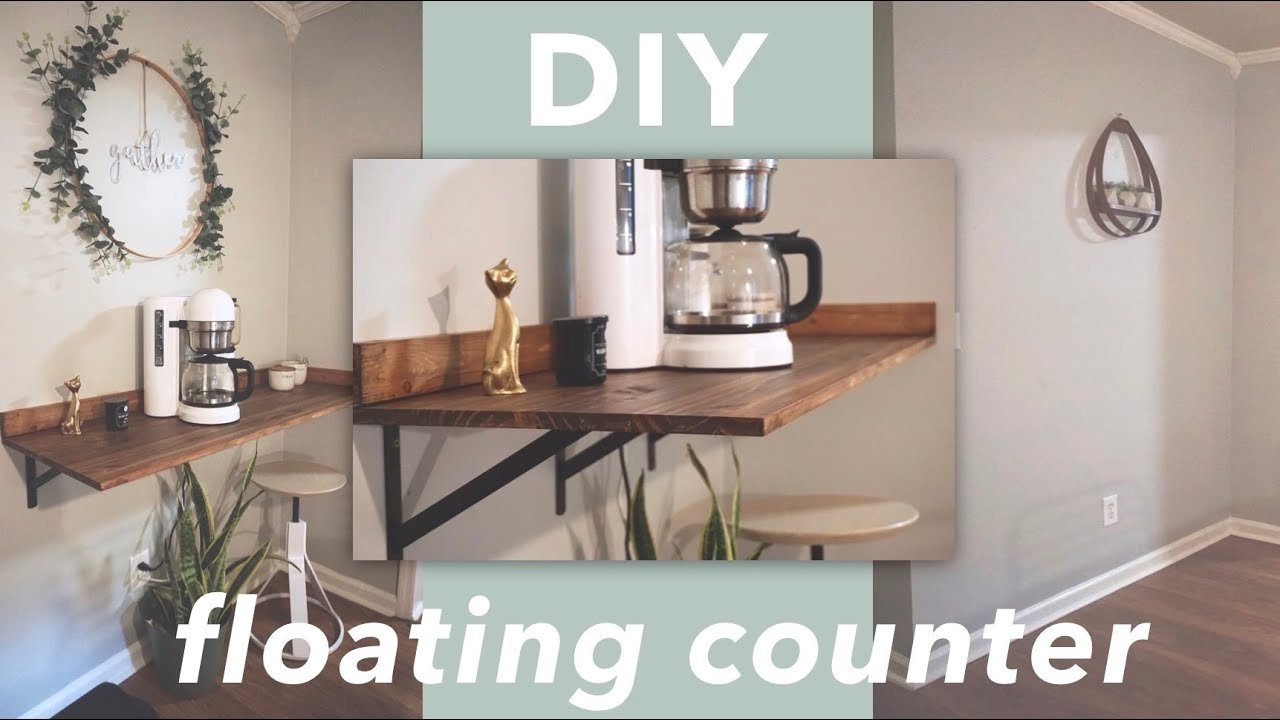 Diy Coffee Bar Floating Countertop
