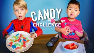 CANDY PATIENCE CHALLENGE WITH OUR 4 & 6 YEAR OLD!! 😳