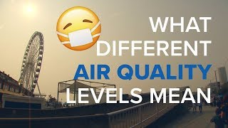 What different air quality levels mean